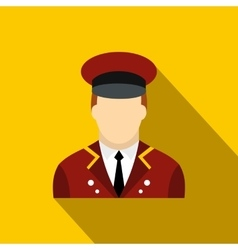 Doorman flat icon vector