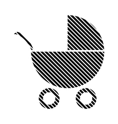 Pram sign on white vector