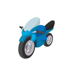 Motorcycle blue cartoon icon vector