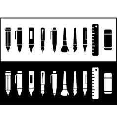 writing icons set vector image