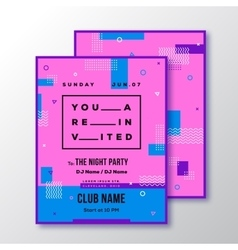 Night party club invitation card or poster vector