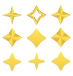 Four point stars collection vector