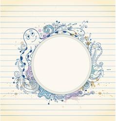 sea doodle banner vector image