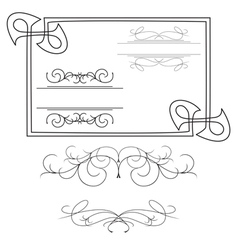 Set of various curved elements vector