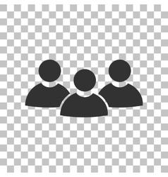 Team work sign dark gray icon on transparent vector