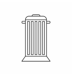 Street trash icon outline style vector