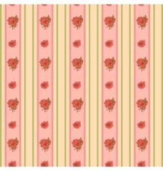 Vintage rose and stripes pattern for wallpaper vector
