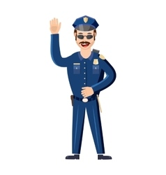 Policeman icon in cartoon style vector