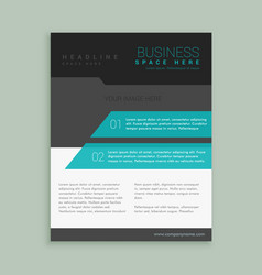 Abstract company brand brochure template design vector