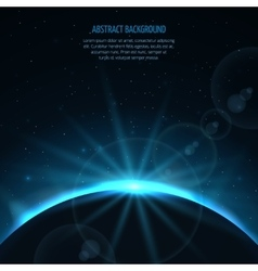 Abstract space fantastic background with vector