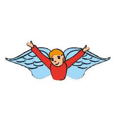 angel cute cartoon icon image vector image