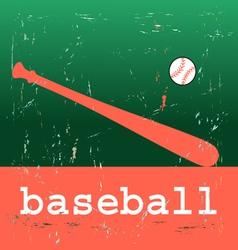 baseball poster vector image