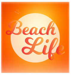 beach life background vector image