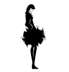beautiful young fashion woman vector image vector image