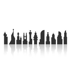 Black city landscape with shadow vector