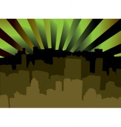 city scape shady vector image