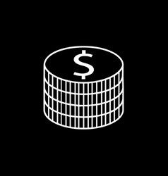 Coins line icon finance and business vector
