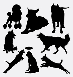Dog pet animal silhouette 14 vector image vector image