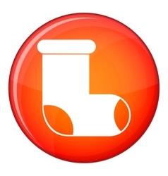 Felt boot icon flat style vector