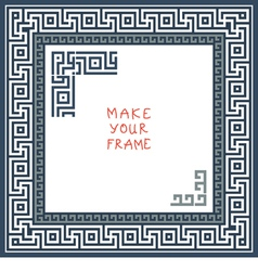 Frame with greek ornament meander vector