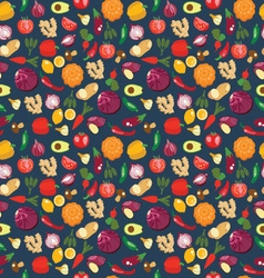 fresh and healthy food Vegetables pattern vector image vector image