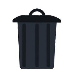 garbage trash can vector image vector image