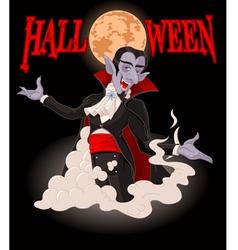 Halloween Dracula vector image vector image
