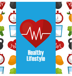 Healthy lifestyle concept vector
