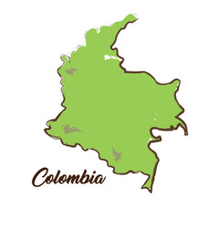 Isolated colombian map vector