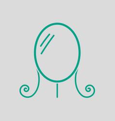 Make up mirror icon vector
