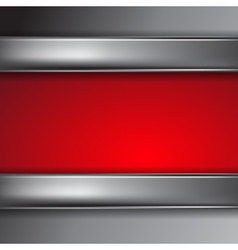 Metal background with place for text vector image