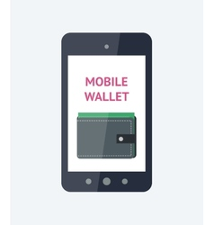 Mobile wallet concept vector