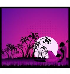 moonlit night vector image vector image