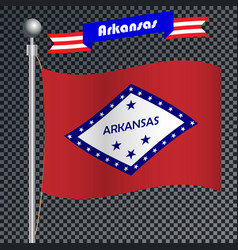 National flag of arkansas vector