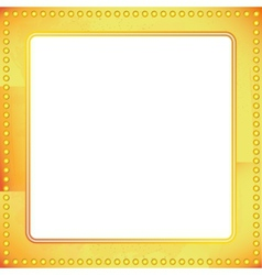 Old riveted gold metal frame vector