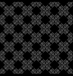 seamless abstract vintage black pattern vector image vector image