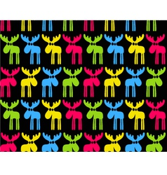 Seamless background with colored elks vector image