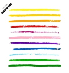 Set of colorful hand drawn paint lines vector image vector image