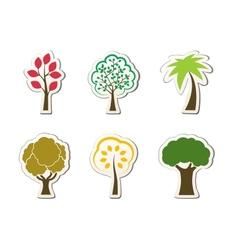 Tree symbols for green web design vector image vector image