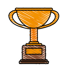 Winner trophy flat vector