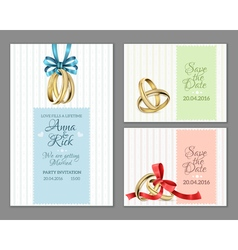 Celebrate invitation wedding cards vector