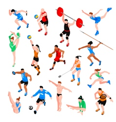 Sport isometric set vector