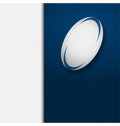 Rugby ball border background on white vector