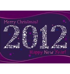 2012 greeting card vector image