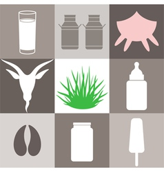 Milk Set vector image