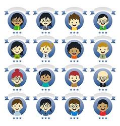 various people cartoon character vector image