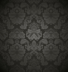 Damask floral pattern vector