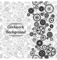 Seamless gearwheel mechanism background vector