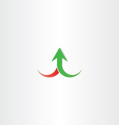 Arrow up growth symbol sign vector