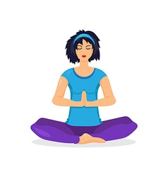 Training yoga woman vector